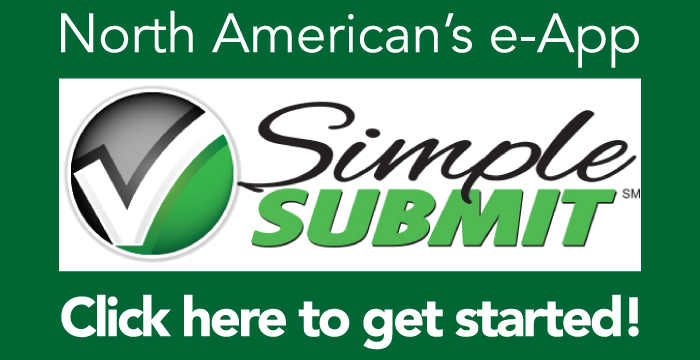 North American's e-App Simple Submit